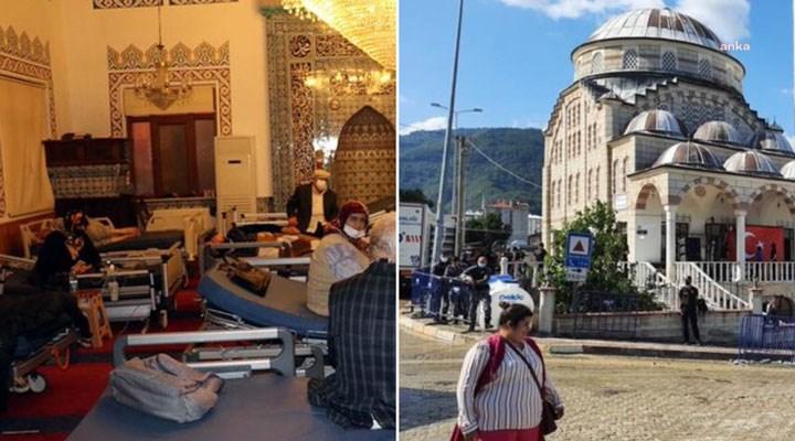 CHP'li Baltacı: Dün sel mağdurlarına sahra hastanesi olarak hizmet veren cami, bugün Erdoğan'a hizmet versin diye boşaltıldı