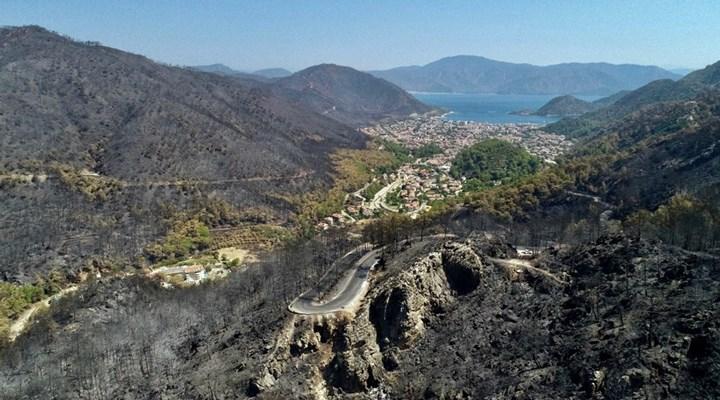 FOTO HABER | Marmaris'te yangının etkisi havadan görüntülendi