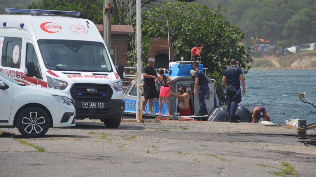 Sinop'ta boğulma tehlikesi geçiren 4 kişi kurtarıldı